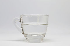 Half a glass of water Stock Photography