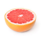 Half of grapefruit. Half of juicy grapefruit. Isolated over white Stock Photography