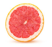 Half grapefruit citrus fruit fresh and juicy  on white b Stock Images