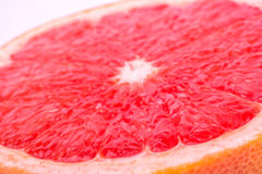 Half  grapefruit. Cut half a grapefruit closeup shot Royalty Free Stock Photos