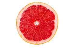 Half  grapefruit. Cut half a grapefruit on a white background Stock Photos