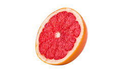 Half  grapefruit. Cut half a grapefruit on a white background Stock Image