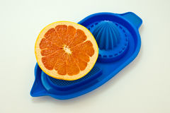 Half Grapefruit and juicer. Stock Images