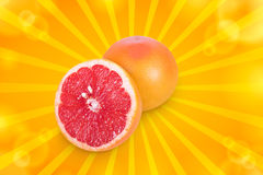 Half a grapefruit Stock Photography