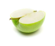 Half of green apple Royalty Free Stock Photos
