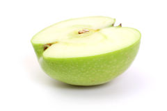 Half green apple Royalty Free Stock Image