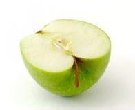 Half green apple. On white Stock Photo