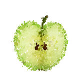 Half green apple of blots  Royalty Free Stock Images