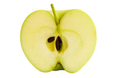 Half green apple Stock Images