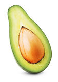 Half of green avocado isolated on the white background Royalty Free Stock Photos