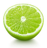 Half of green lime citrus fruit isolated on white Stock Image
