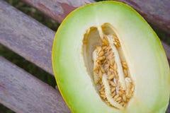 A half of green melon Stock Photo