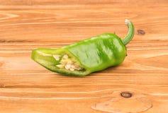 Half green pepper Stock Photo