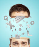 Half head and alphabet Royalty Free Stock Image