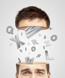 Half head and alphabet Royalty Free Stock Photo