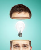 Half head and bulb Stock Photography
