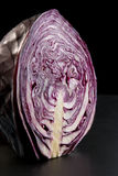 Half of a Head of Red Cabbage Royalty Free Stock Images