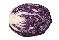 Half of head of red cabbage Royalty Free Stock Image
