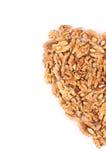Half of heart from walnuts. Stock Photo