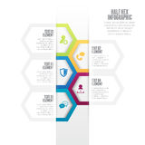 Half Hex Infographic Stock Photos