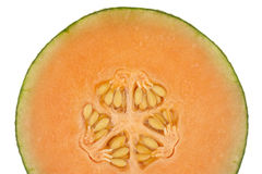 Half a honeydew melon isolated Stock Photography