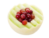 Honeydew Melon and Grapes with Clipping Path Stock Images