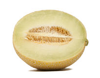 Half a honeydew melon Royalty Free Stock Images