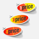 Half, hot and low price signs Royalty Free Stock Photo