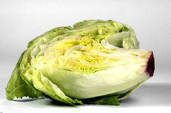 Half of iceberg lettuce isolated Stock Photos