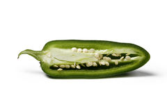 Half Jalapeno Royalty Free Stock Photos