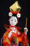 half japansk kimonostående för docka Royaltyfri Fotografi