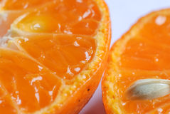 Half of juicy fresh orange Stock Image