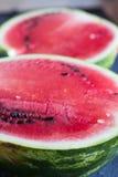 Half of juicy watermelon. Closeup Stock Image