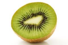 Half kiwi. One half kiwi isolated on white background stock photo