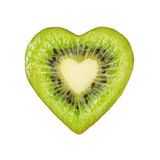 The half of the kiwi in the form of heart Stock Photos