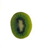 Half a Kiwi fruit. Isolated on a white background Stock Image