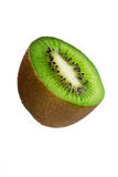 Half a kiwi fruit isolated Royalty Free Stock Images