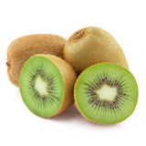 Half kiwi fruit isolated Stock Images