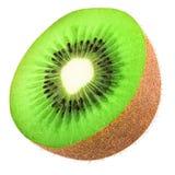 Half of kiwi isolated. Half of kiwi fruit isolated on white background stock photo