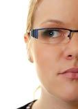half kvinna för framsida Arkivfoto