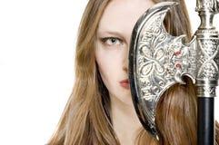 half kvinna för framsida Royaltyfria Bilder