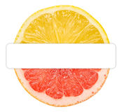 Half Lemon Half Grapefruit Royalty Free Stock Image