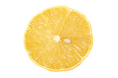 Half a lemon on isolated background top view. Half a fresh lemon on isolated background top view Royalty Free Stock Photography