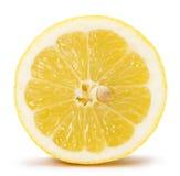 Half of lemon isolated on the white background Royalty Free Stock Photos
