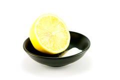 Half a Lemon and Salt Stock Photo