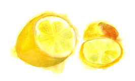 Half of lemon Royalty Free Stock Photos
