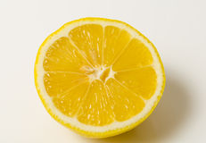 Half Lemon. On white background royalty free stock photos
