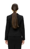 Half-length backview of businesswoman Royalty Free Stock Photo