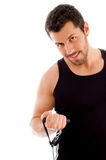 Half length of exercising man Royalty Free Stock Image
