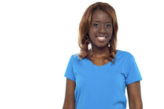 Half length picture of smiling african girl Stock Images